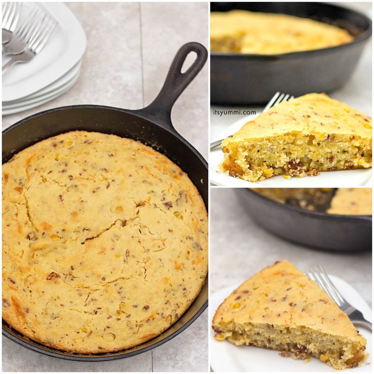 This recipe for bacon cheddar cornbread is moist and delicious, with help from creamed corn. It's sweetness makes it a perfect snack any time of the day!