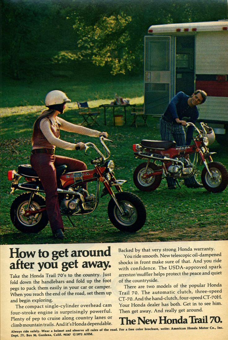 1972 Honda Trail 70 Advertisement Photo Picture