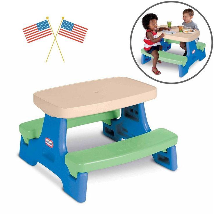 Outdoor Kids Toys Junior Play Picnic Table Bench Patio Garden Entertainment Fun #OutdoorKidsJuniorToys