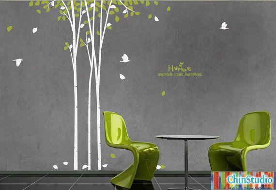albero wall decal vivaio muro Decalcomania bambini parete decal camera da letto vinile decal parete decal alberi alberi decalcomania-felicità di nozze