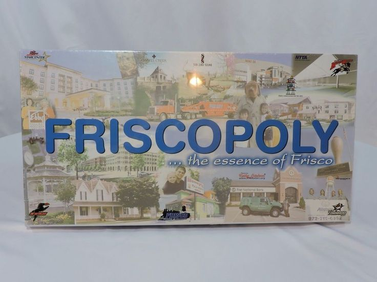 Friscopoly Board Game - Plays like Monopoly! Collector's Item - FRISCO, TEXAS