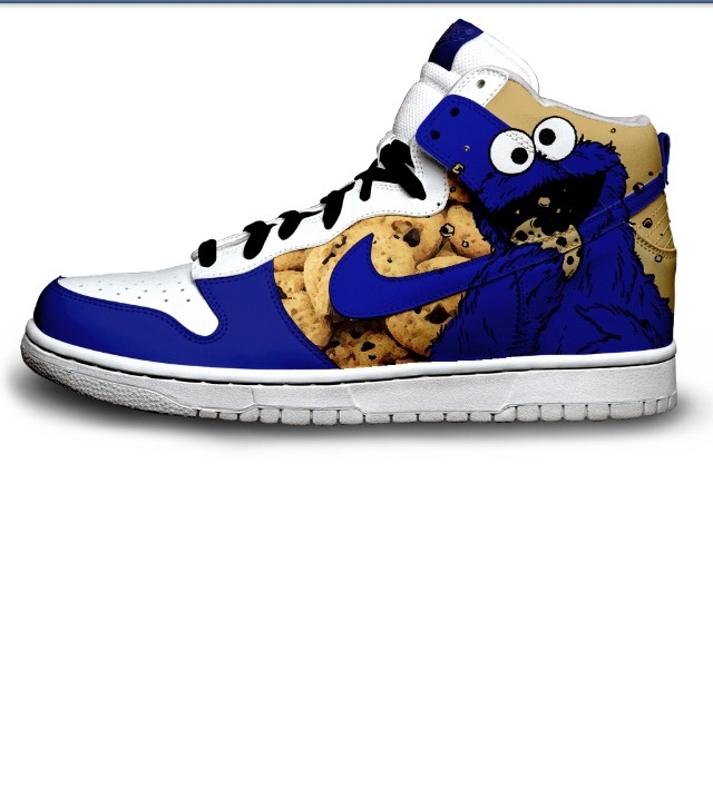 Nike Dunk Cookie Monster Sneakers Cartoon Pattern Sesame Street Cookie  Monster is a Muppet on the children's television show Sesam.