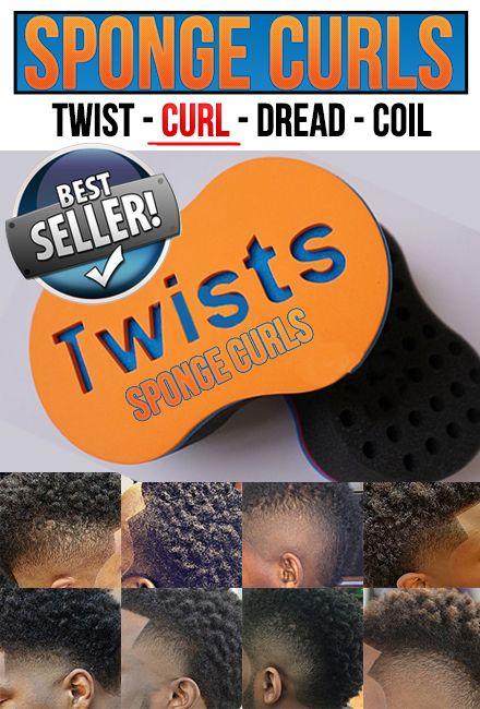Sponge Curl Brush for Black Men - http://spongecurls.com