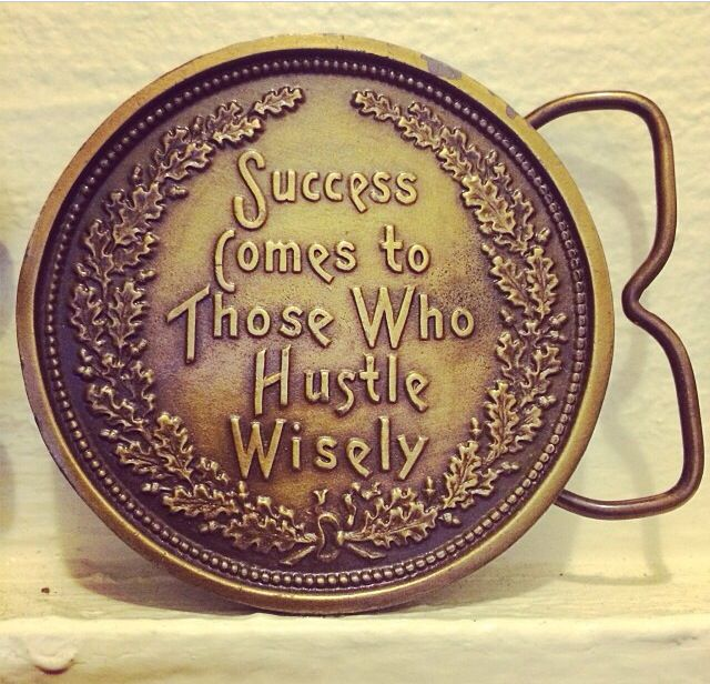 #vintage belt buckle with a cool #quote