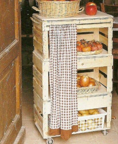 Fruteira de caixote