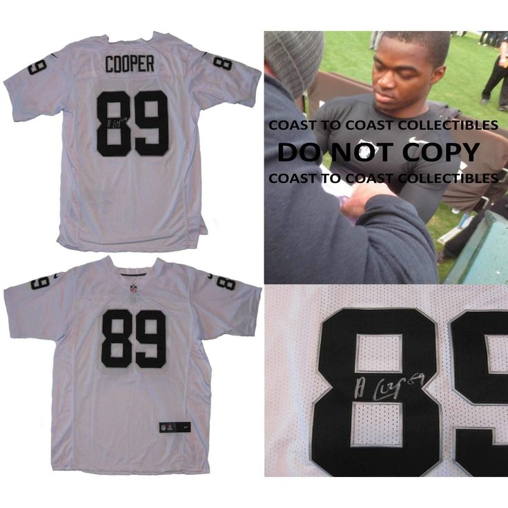 Amari Cooper Oakland Raiders, Signed, Autographed, Raiders Jersey, a Coa with the Proof Photo of Amari Signing Will Be Included
