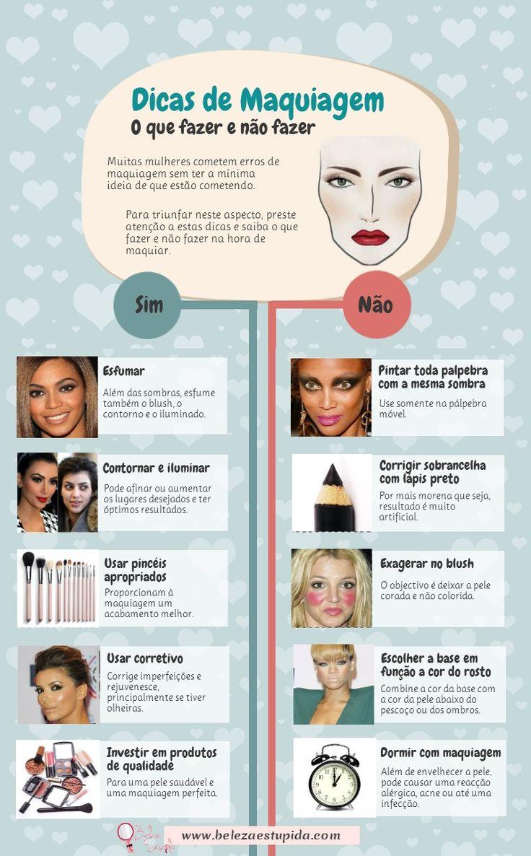 Dicas de maquiagem                                                                                                                                                                                 Mais