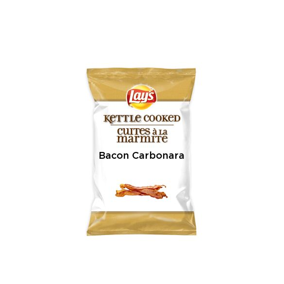 I found bacon carbonara on Lay's Kettle Cooked for Lay's® #DoUsAFlavourCanada. Check it out and submit your own for a chance to win† $50k + 1% of your flavour's future sales††! http://lays.ca/flavour