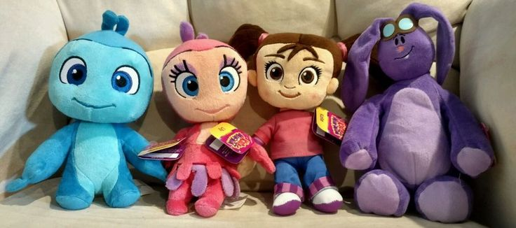 Disney Jr Kate And Mim Mim Small Plush Dolls Lot Of Four