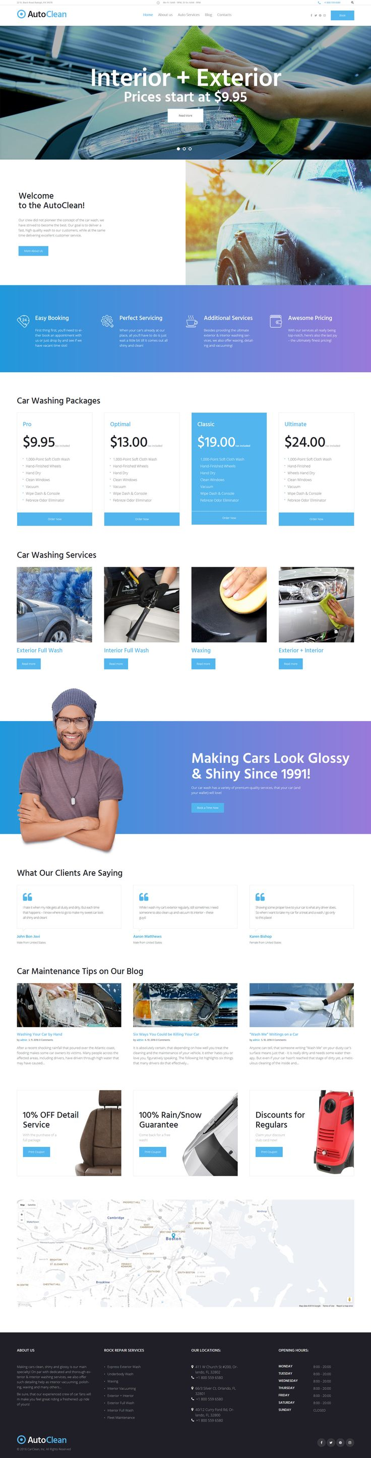 Car wash wp theme https www templatemonster com wordpress