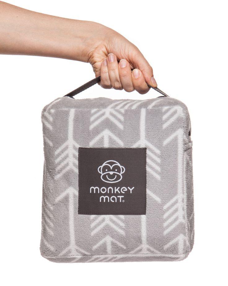 Plush Monkey Mat - Gray Arrow Print