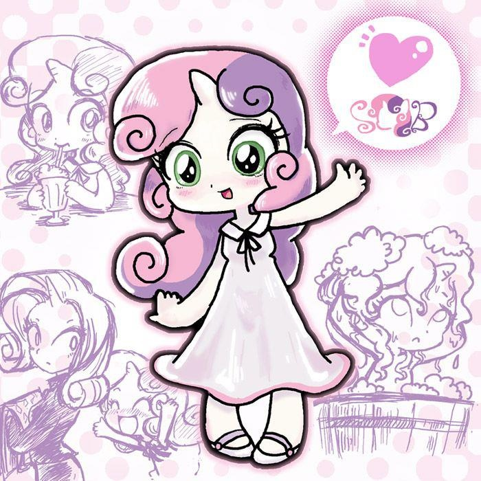 Sweetie Belle and apple bloom and fluttershy are my favorite mlp  characters