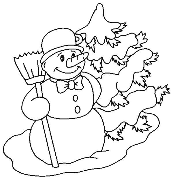 snowman coloring pages picture 5