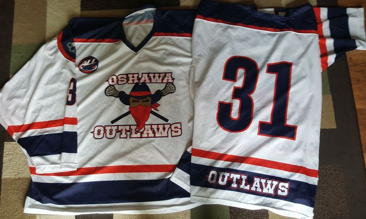 Zach Higgins Oshawa Outlaws Playoff MVP Game Worn Goalie Jerseys