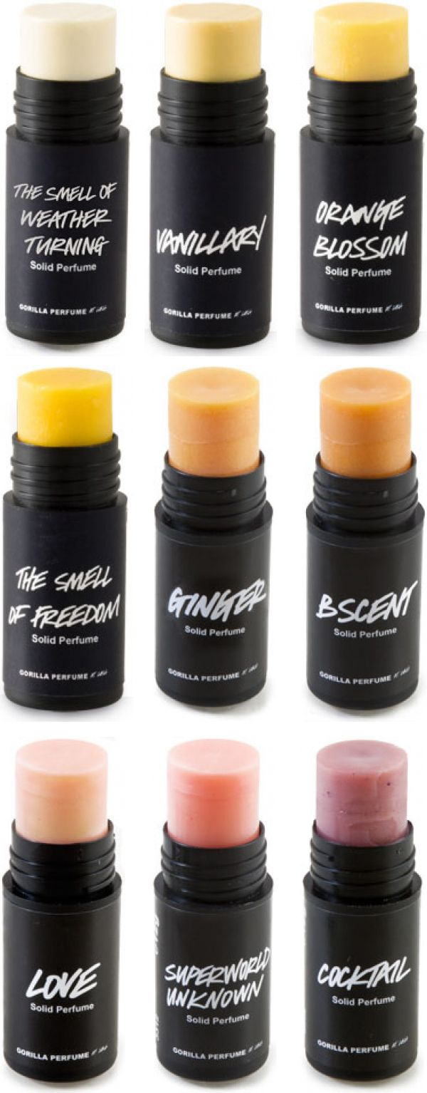 Solid perfume - another alternative to liquid that will help make security a bit easier. If this interests you, you might also enjoy their solid shampoos. Lush.com