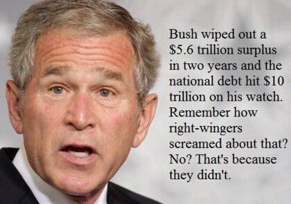 ▲ Everything they say about Obama is not true but usually applies to Bush. I don't know why.