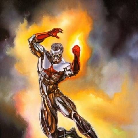 Captain Atom, sporting his red-and-gold look, is seen fighting against a villain named Man O' War and using lines from a script as though he were in a movie, until L-Ron shows up and easily takes out the villain with a taser. The robot extends Max Lord's Superbuddie's contract to the Captain, who reluctantly accepts. On his way to the headquarters, Atom runs into Mary Marvel for the first time.