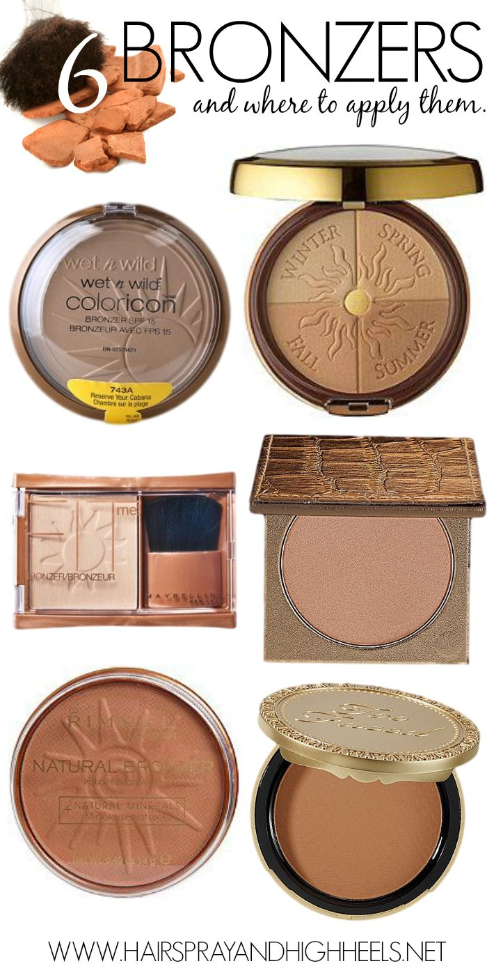 The best bronzer {I've tried them all, and my favorite is the Wet and Wild! Go figure... the cheapest one! }