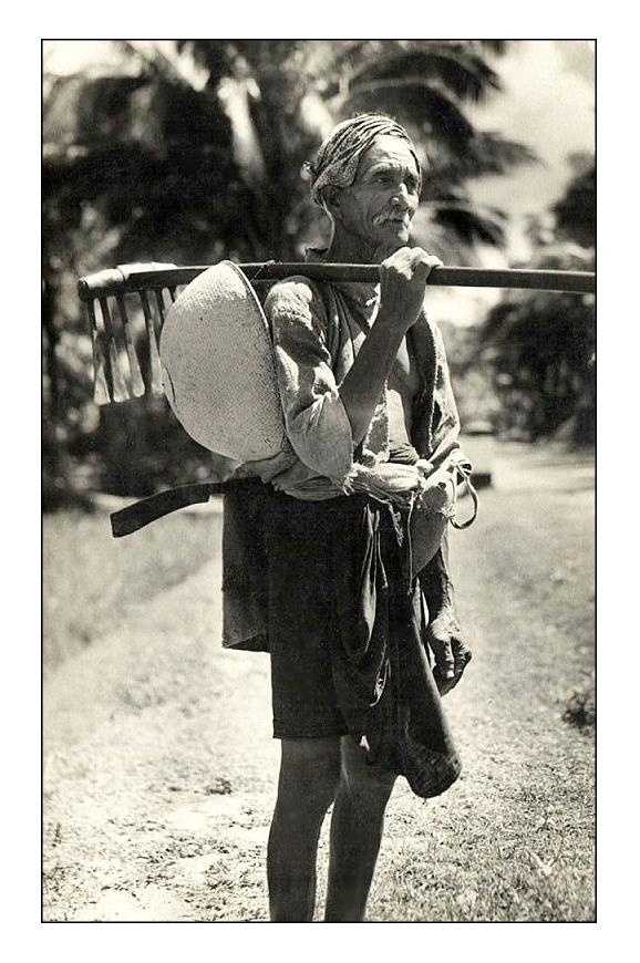 Balinese farmer, 1920s, photographer unknown