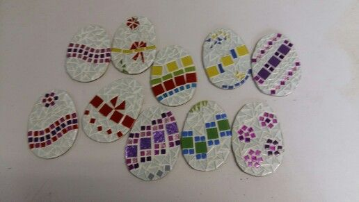 Easter Egg coasters - gifts made for our children with special needs at Pathways-Kloof.  Own creation/design : Neeltje Wasmuth