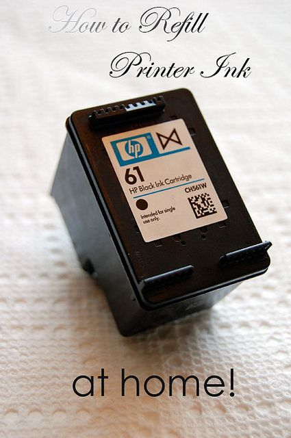Bottles of Printer Ink.  (can find @ all kinds of places on-line) *Need 1tbsp per refill, no more or less! Ya don't want to under-or-over fill.   Paper Towels  A used up printer cartridge