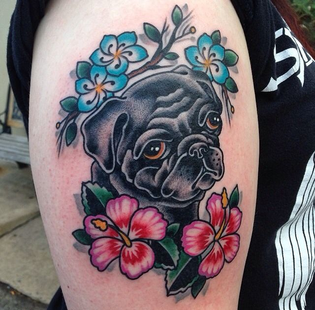 The 25 best pug tattoo ideas on pinterest for Anthony french tattoo