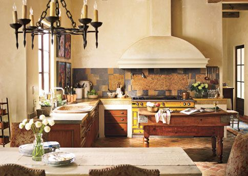 My perfect kitchen! A couple from Baton Rouge created this kitchen inspired by their trips to France.