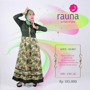 Gamis Rauna Model RK-007 Hijau