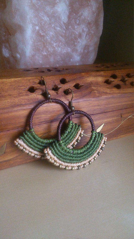 Pendientes de macramé étnicos tribal hippie boho por TribalMacrame