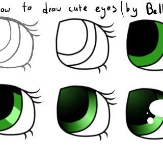 Cute Easy Eyes Drawing How To Draw Easy Cute Eyes
