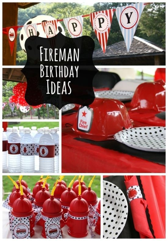 Fireman Birthday Party Ideas for