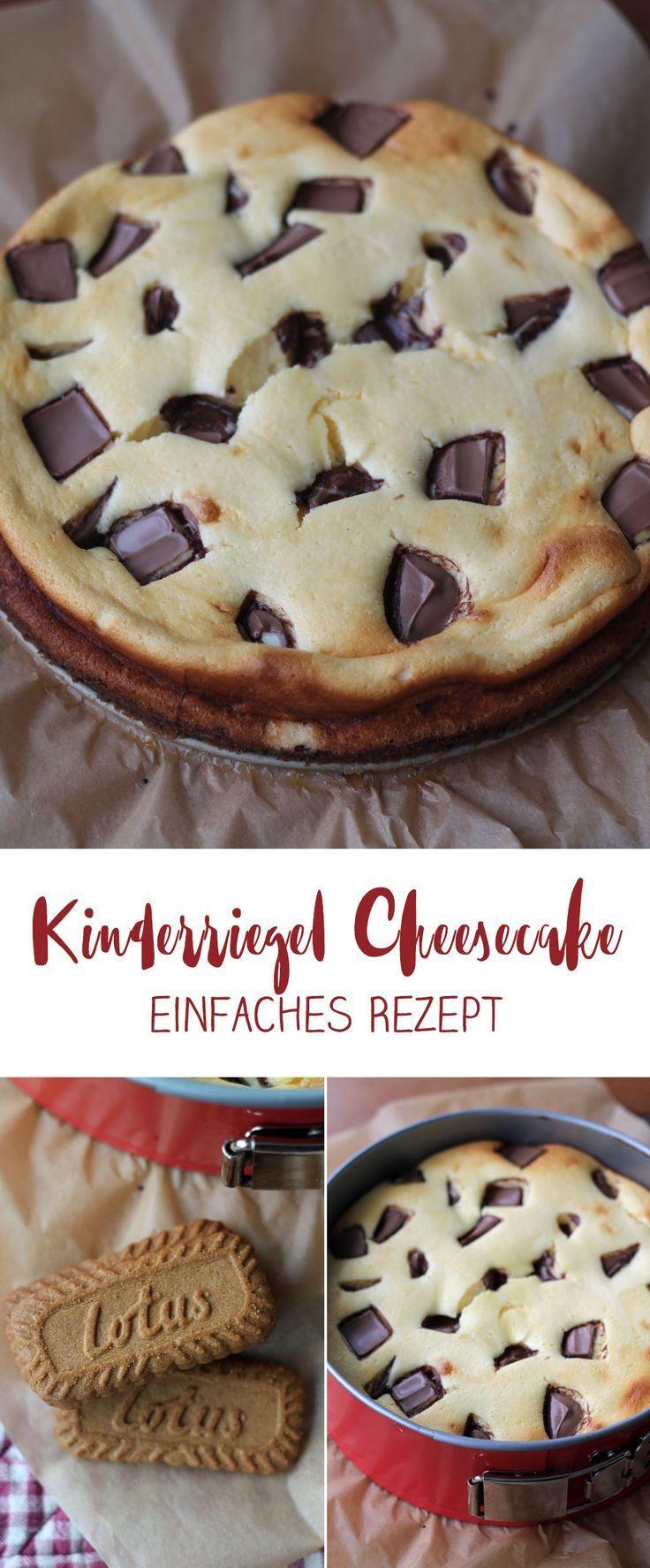 Sonntagskuchen Kinderriegel Cheesecake mit Karamell Keksboden
