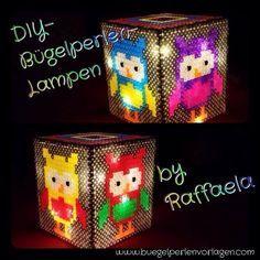 Do it yourself Lampe aus Bügelperlen collage