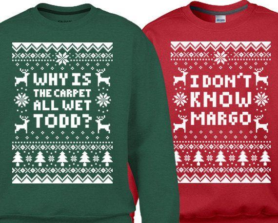 Couples 2-Sweatshirt Christmas Set Why Is The Carpet by JonnyTeez