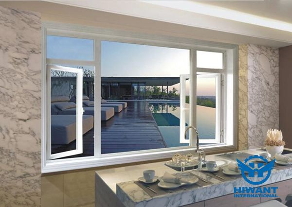 hiwant top grade aluminium profile for windows and doors white