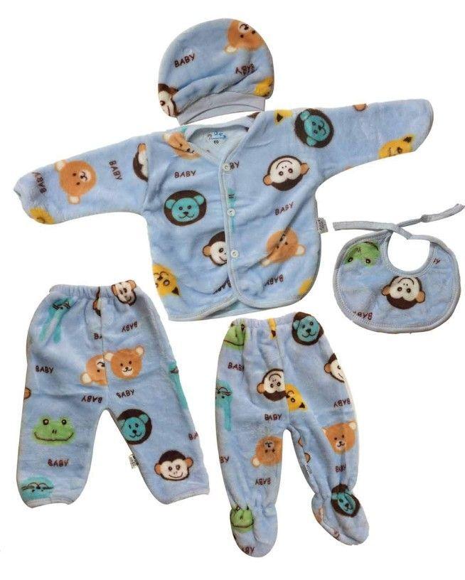 5pcs Baby Babyclothinggirl0 3 Born Cartoon Clothes Cotton Months Printing Sets Warm Wear Winter Ew Born Baby Winter Baby Winter Unisex Baby Kids Fashion