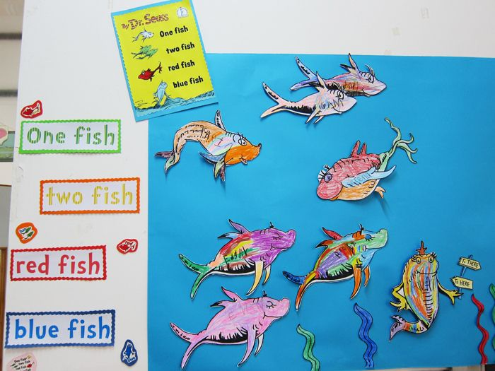 seuss one fish two fish red fish blue fish - One Fish Two Fish Red Fish Blue Fish Coloring Pages