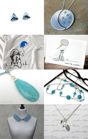 A splash of blue... by Lisa Standley on Etsy--Pinned with TreasuryPin.com