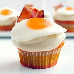 Pancake, Bacon and Egg Cupcakes!  Everything