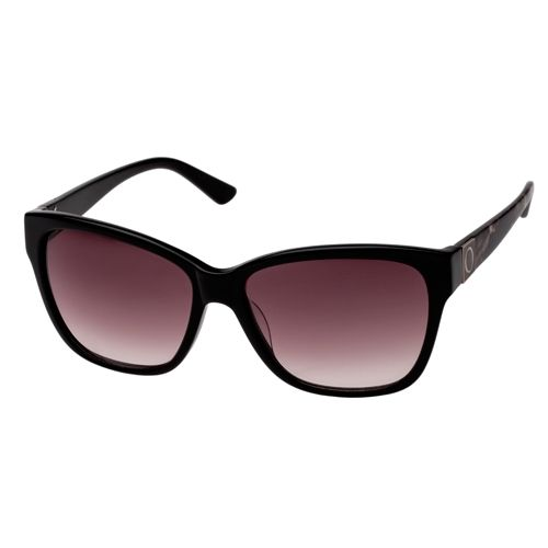 Oroton Treasure Sunglasses. These Sunglasses Come In A Black Wayfarer Style With Dark Lenses And A Subtle Pattern On The Arms. A Casual and Super-Cool Look.