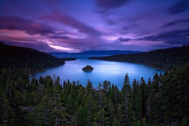 Lake Tahoe......broke my foot here in High School and ruined my family's vacation. What a beautiful place to do it.