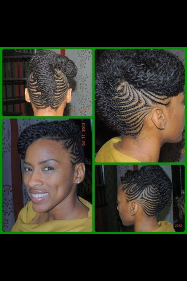 Oh yes cornrows in an updo..brilliant!                              …