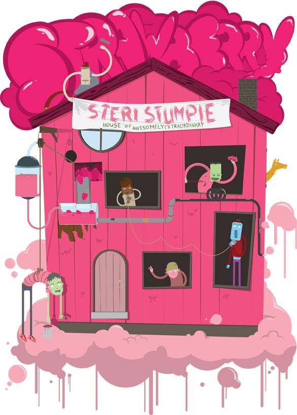 Sterri Stumpie T-shirt Illustration by Dylan Wyndham Jones, via Behance