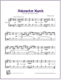 March (Nutcracker) | Free Sheet Music for Piano - http://makingmusicfun.net/htm/f_printit_free_printable_sheet_music/nutcracker-march-piano-solo.htm