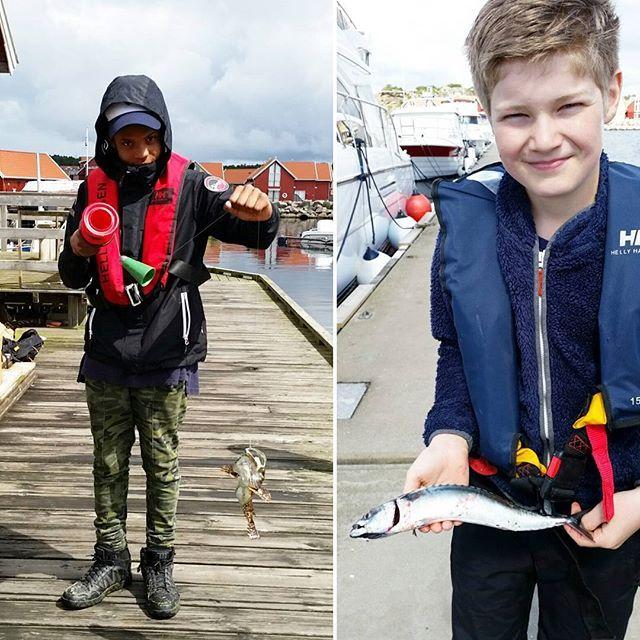 Fabio og Jostein hadde fiskelykke i dag😄😄 Ulke til Fabio og en pen makrell til Jostein👍 #fiskelykke #maritimedager #gonefishing #deadliestcatch #ulke #makrell #visitnorway #visitfredrikstadhvaler #hvaler #hvalerungdommen