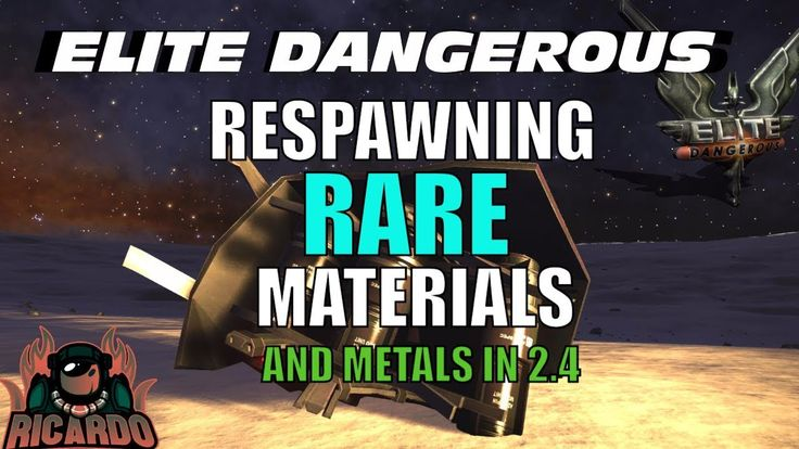 Elite Dangerous : Infinite Rare Material Cargo Racks in 2.4