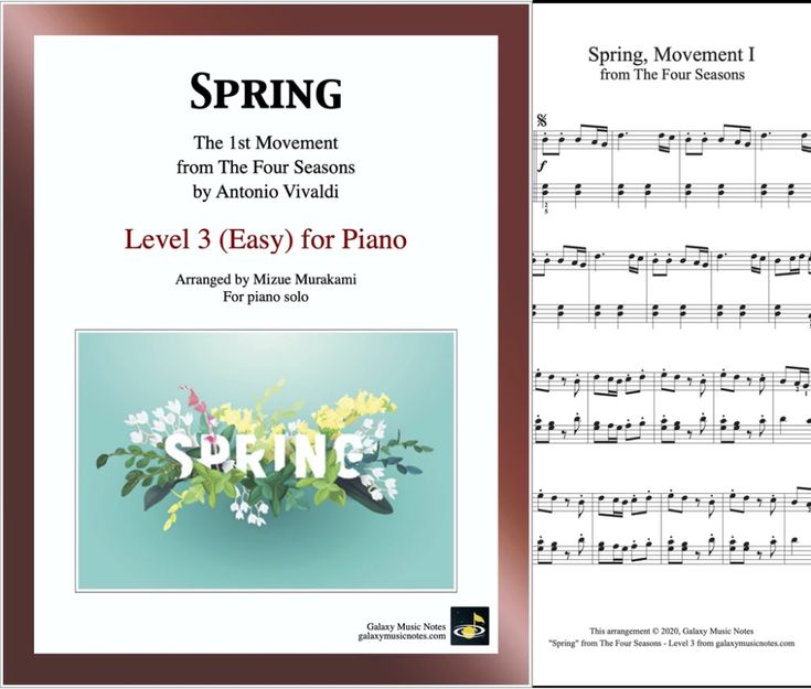 Spring Movement 1 From The Four Seasons By Vivaldi Level 3