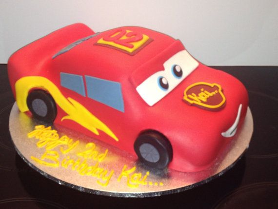 Lightning McQueen Cars Boys Birthday Cake, Noosa Sunshine Coast Cake Shop, Made to Order with Delivery