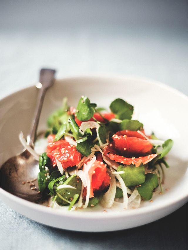 Fennel + grapefruit salad.