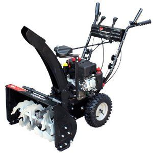 Review Power Smart Db7659a 22-inch 208cc Lct Gas Powered Compact 2-stage Snow Thrower With Electric Start image